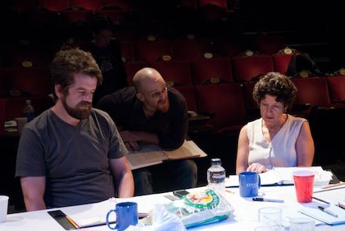 David O'Connor (Director), Rob Kaplowitz (Sound Designer), and Harriet Power (Dramaturg)