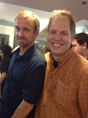 Playwrights Davey Strattan White and Nicholas Wardigo at PlayPenn 2014