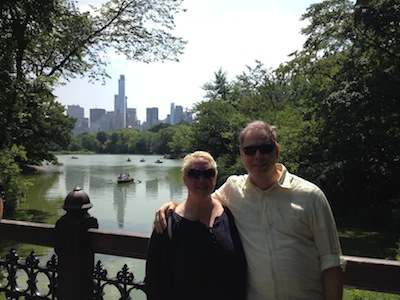 Aurora and Nick, enjoying Central Park.