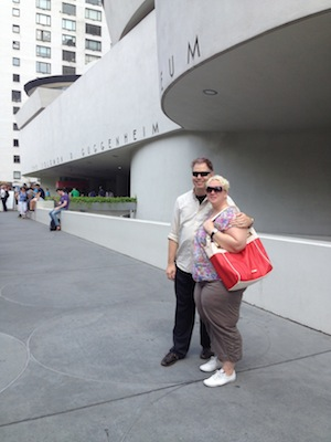 Nick and Aurora, outside the Guggenheim