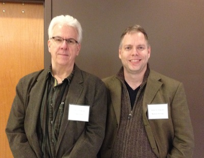 Posing with the author: Gregory Frost and me
