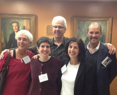 The writers of Push to Publish 2014, from left: Merry Jones, Janice Gable Bashman, Gregory Frost, Marie Lamba, and Don Lafferty