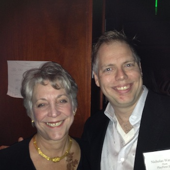 Playwrights Barbara Bellman and Nicholas Wardigo