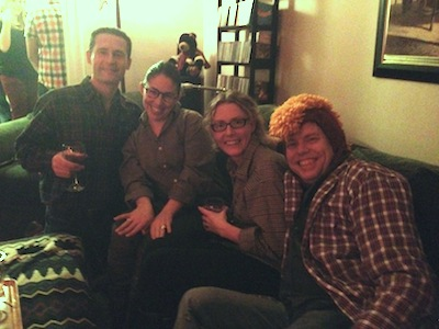 Christmas Party Reptiles: George Filip, Maribel Garcia, Kelly Sarabyn, and Nicholas Wardigo