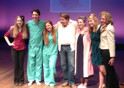 Miscreants on stage: Anastasia Hutnick and a gaggle of actors