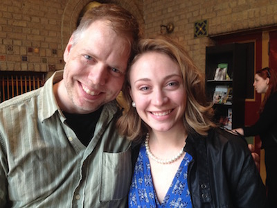 Playwright Nicholas Wardigo and actor Emilie Krause.