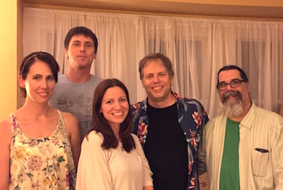 Annaliese Gove, Steve Lythgoe, Jenn Jaynes, Nick Wardigo, and Rick Friedman.  That's actually a really good pic; none of us look that good in real life.