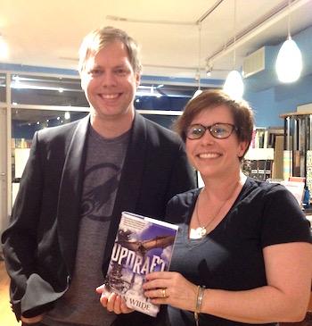 Nicholas Wardigo with novelist Fran Wilde.