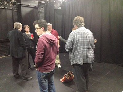 Miscreants milling about at Mark Knight's reading.