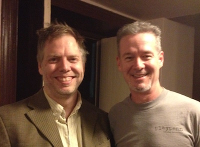 Nick Wardigo and actor Kevin Bergen.