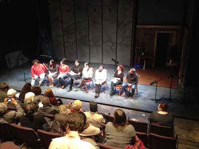 The cast of GRACIELA at the new Drake theater space.