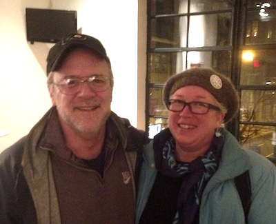 Playwright Bruce Graham and lovely spouse Aurora Johansen-Wardigo.