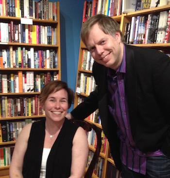 Novelist Fran Wilde with playwright and unpublished-novelist, Nicholas Wardigo.