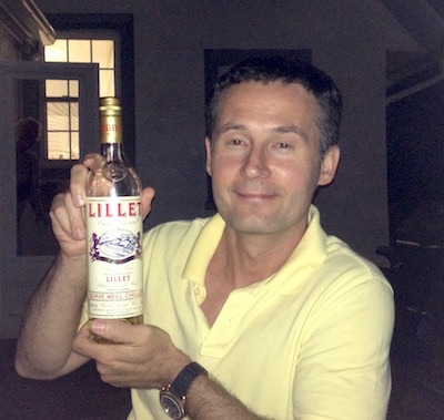 Georgio with Lillet. The Lillet is the one on the left.