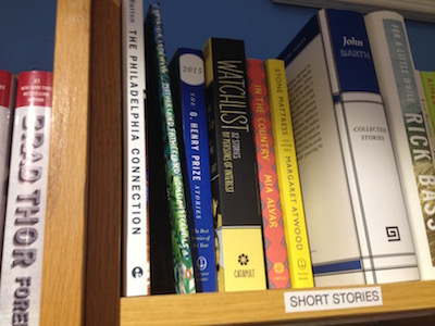 B.J. Burton's book on the shelf at Main Point Books!
